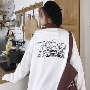 【トップス】好感度UPキュートプリントファッション韓国系合わせやすい長袖Tシャツ24226423