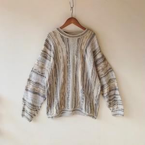 vintage 3D knit sweater