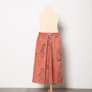 folk made  face print hooded pants  (pink rose print) M・Lサイズ F21SS014 ※メール便1点までOK