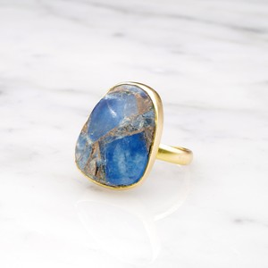 SINGLE BIG STONE RING GOLD 143