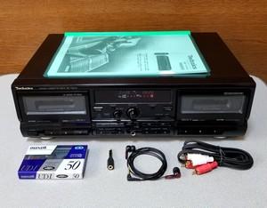 ダブル録音テープデッキ Technics RS-TR575 - 4  録音良好・完動品