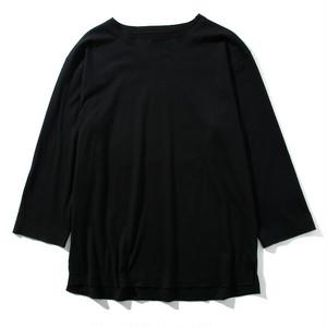 mellow edging L/S tee(black)