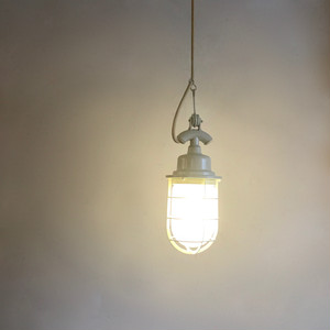 Industrial Glass Pendant Lamp