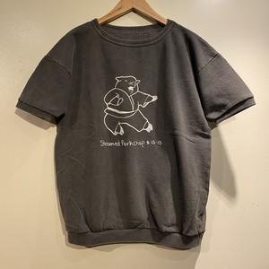 "【Mixta】 S/S SWEAT T-Shirt ""Steamed Porkchop"" ミクスタ 半袖 スウェット Tシャツ"