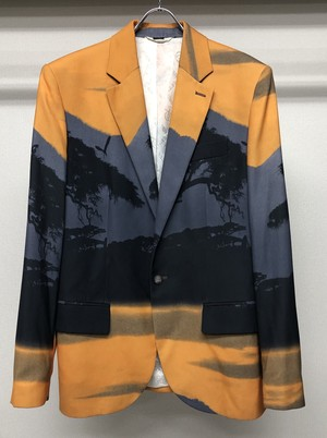 1990s ALEXANDER MCQUEEN PRINTED TAILORED JACKET