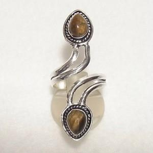 天然石リング タイガーアイ(トラ目石)のフリーサイズリング 指輪のセール通販 4783R