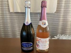 ロゼorスパークリングワイン1本&白/赤ワイン専用オードブル各1人前のセット