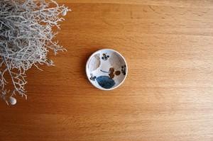 砥部焼/丸小皿/木の葉.森陶房