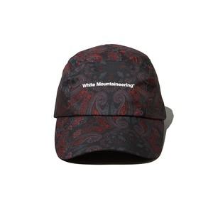 BANDANA PRINTED LONG VISOR CAP - BLACK