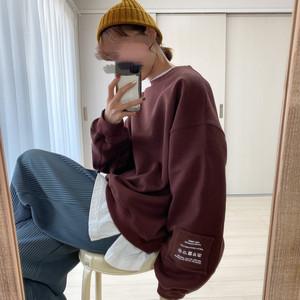original tag sweat 【brown】