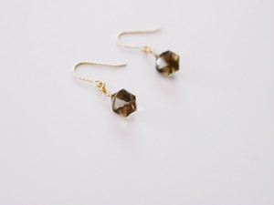 PIECE Earrings|Lemon Bio Quartz, 14KGF