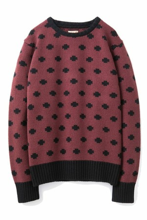 "DRESS HIPPY(ドレスヒッピー) /  ""PLUS KNIT SWEATER""(BURGUNDY)"