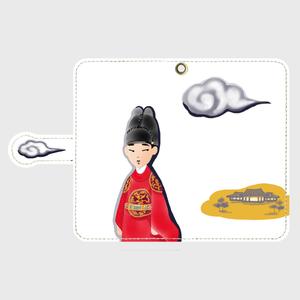 手帳型Androidスマホケース「雲形にちょな」(S)