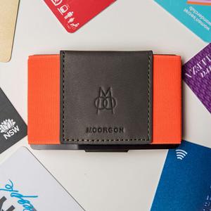 ■MOORGON モールゴン ミニマル財布 カードケースウォレット コーラルカリビアン(ネオンカラー)