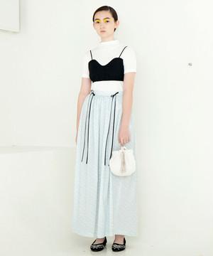 小花とリボンのロングスカート