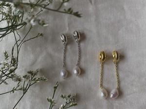 marine pearl chain pierce
