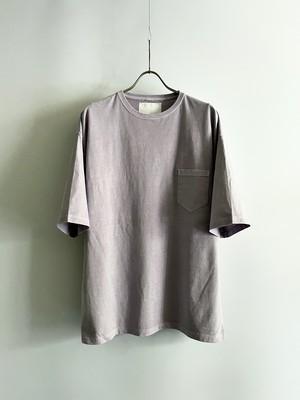 TrAnsference loose fit half sleeve pocket T-shirt - lavender garment dyed