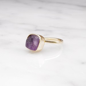 ROUGH STONE RING GOLD 020