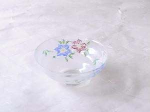 日本製 海峰 作 鉄線 耐熱ガラス 抹茶碗