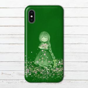 #004-012 iPhoneケース スマホケース ファンタジー かわいい エクスペリア iPhoneXS/X Xperia iPhone5/6/6s/7/8 ケース イラスト ARROWS AQUOS タイトル:Forest Green 作:水無月りい