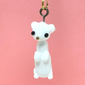 動物とんぼ玉チャーム ☆オコジョ☆ スペシャル
