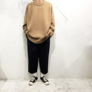 FIRMUM 【フィルマム】 SUPER 100 MULE TWEED WOOL KNIT SWEATER