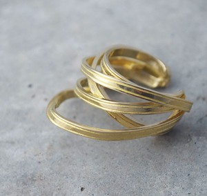 ribbon ring (L)brass