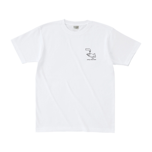 wash hands tee in white