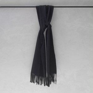AURALEE CASHMERE NARROW STOLE BLACK