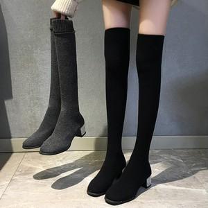 【shoes】流行デザイン無地合わせやすいブーツ25369105