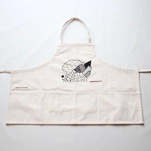short apron [kemuri] ※sample / illustration by fujiwara ayumi