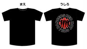 """R.H.C.D-レッチ- """"グループロゴTシャツ"""" (ブラック×レッド)"""