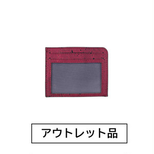 【アウトレット】パスケース マルーン 【50%OFF】