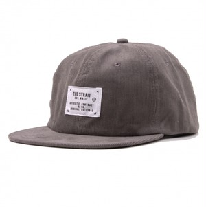 CORDUROY 6PANEL TAG CAP #GREY