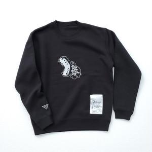 クルーネックスウェット(カバ)Black 【10着限定】