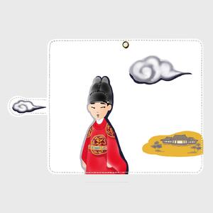 手帳型Androidスマホケース 「雲形にちょな」(L)