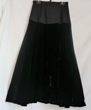 CHANEL Velour Long Skirt