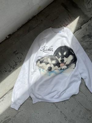 vintage print sweat -dogs-
