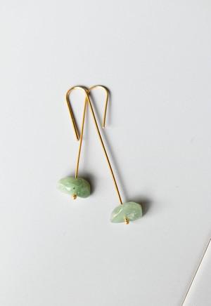notice stone pierce / B / jade