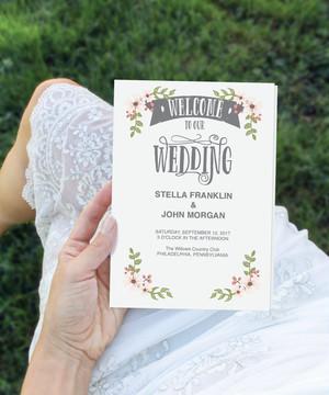 【Country Bloom】ゲストが何名でもこの値段♥︎自分で作る席次表&プログラムブックキット│結婚式