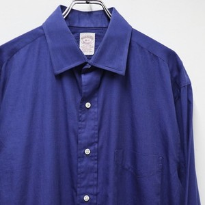 "Brooks Brothers ""Makers"" L/S cotton shirts royal blue"