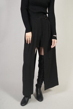 SKIRT LAYERED SHORT PANTS  (BLACK)2009-64-73