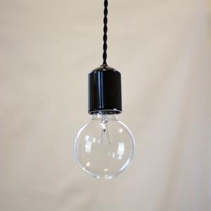Socket Lamp Bk Gloss|陶器 黒ツヤ