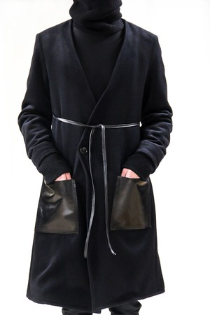 17AW Angola Wool Gown Coat