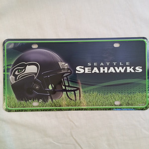 NFL シアトル シーホークス Seattle Seahawks メタル ライセンスプレート RICO 2080