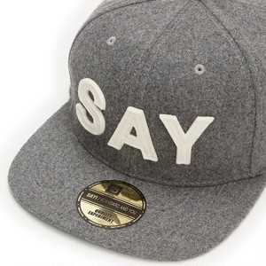 "SAY! / セイ!|  WOOL BASEBALL CAP "" FELT-SAY "" - H.Gray"