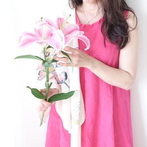 リネンワンピース・LUVピンク ー lotus blanc ー