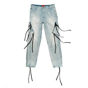 424 on Fairfax  DENIM CARGO PANTS
