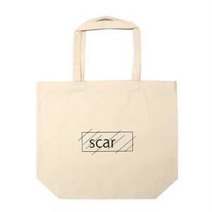 scar /////// OG LOGO STANDARD TOTE BAG / LARGE (Black)