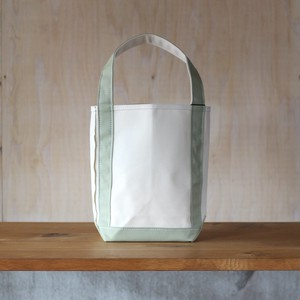 "BAGUETTE TOTE SMALL ""NATURAL/ LT-OLIVE"""